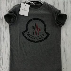 MONCLER CASUAL T-SHIRT REGULAR FIT COLOR GRAY